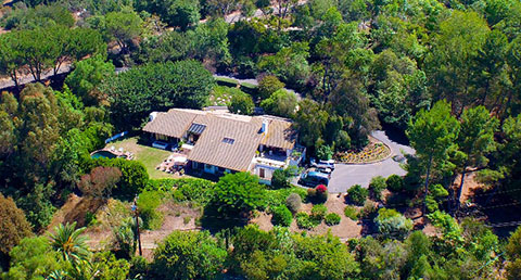 aerial view of Saddleback Road home